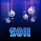 Fondo azul por Año Nuevo Fotografía de archivo