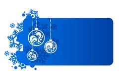 Fondo azul por Año Nuevo Foto de archivo libre de regalías