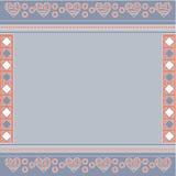 Fondo azul, rosado y blanco con los corazones Imagen de archivo libre de regalías