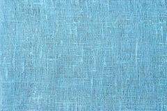 Fondo azul suave del material del yute Fotografía de archivo libre de regalías