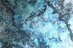 Fondo azul veneciano de la textura de la pintura del cemento de la pared imagen de archivo