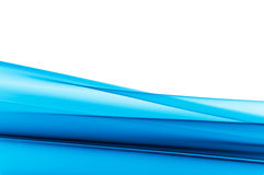 Fondo azul vibrante en blanco Foto de archivo libre de regalías
