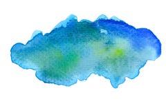 Fondo azul vivo de la acuarela Fotos de archivo