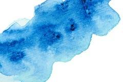 Fondo azul vivo de la acuarela Fotografía de archivo libre de regalías