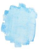 Fondo azul vivo de la acuarela Foto de archivo libre de regalías