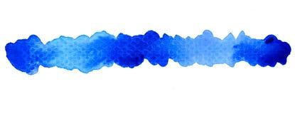 Fondo azul vivo de la acuarela Imagen de archivo