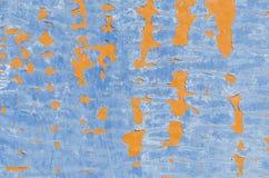Fondo azul y anaranjado Imagen de archivo libre de regalías