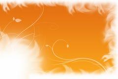 Fondo azul y anaranjado floral Foto de archivo