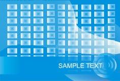 Fondo azul y blanco Imagen de archivo