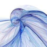 Fondo azul y blanco abstracto del fractal Foto de archivo libre de regalías