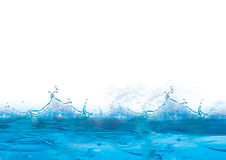 Fondo azul y helado fresco Imagen de archivo