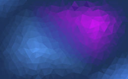 Fondo azul y púrpura abstracto con un modelo poligonal Fotografía de archivo