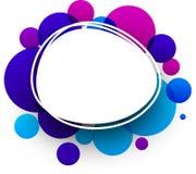 Fondo azul y púrpura Imágenes de archivo libres de regalías