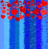 Fondo azul y rojo Foto de archivo libre de regalías