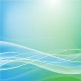 Fondo azul y verde del extracto de la curva ilustración del vector