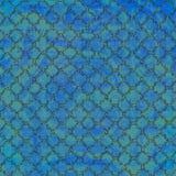 Fondo azul y verde fresco del enrejado Imagen de archivo