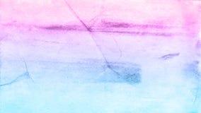 Fondo azul y violeta dibujado mano abstracta de la acuarela, illustrati de la trama Fotografía de archivo libre de regalías