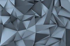 fondo azulado 3d con las sombras y las formas triangulares libre illustration