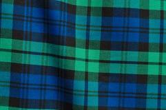 Fondo azulverde de la tela escocesa Fotos de archivo
