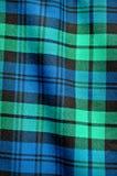 Fondo azulverde de la tela escocesa Fotos de archivo libres de regalías