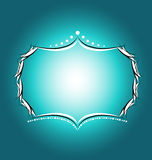 Fondo azulverde de las fronteras de los capítulos Imágenes de archivo libres de regalías