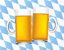 Fondo bávaro de las cervezas Foto de archivo libre de regalías