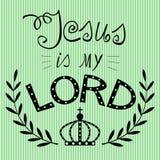Fondo bíblico escrito de la mano de Jesús mi señor stock de ilustración