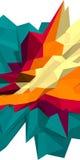 Fondo bajo abstracto del polígono 3d Ejemplo azul y anaranjado Foto de archivo libre de regalías