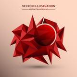 fondo bajo de la geometría del polígono 3D Forma geométrica poligonal abstracta Imagen de archivo