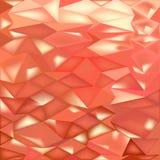 Fondo bajo del polígono del extracto anaranjado de los cristales ilustración del vector