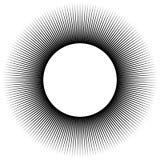 Fondo bajo la forma de bola negra de rayos stock de ilustración