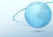 Fondo a banda larga del collegamento di cavo della terra royalty illustrazione gratis