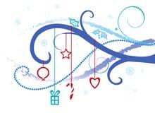 Fondo, bandera en la Navidad o tema del invierno Ilustración del Vector