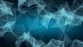 Fondo basso dello spazio poligonale poli con i triangoli Immagini Stock Libere da Diritti
