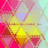 Fondo bastante rosado y amarillo del triángulo Fotos de archivo
