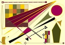 Fondo beige abstracto, formas geométricas de lujo, líneas, circler -18-71 Foto de archivo