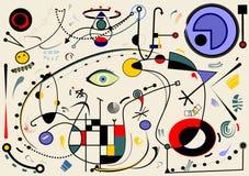Fondo beige abstracto, formas geométricas y curvadas de lujo, arte style18-65 del surrealismo Imagen de archivo libre de regalías