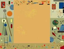 Fondo beige abstracto, inspirado por el pintor surrealista Foto de archivo