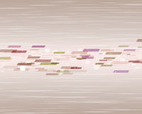 Fondo beige con gli elementi colorati Immagini Stock Libere da Diritti