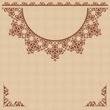 Fondo beige con l'ornamento d'annata Royalty Illustrazione gratis