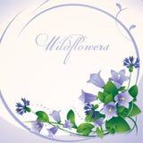 Fondo beige de la primavera con las campanas de las flores stock de ilustración