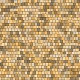 Fondo beige irregolare senza cuciture di struttura di mosaico - pezzi quadrati Immagine Stock Libera da Diritti