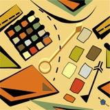 Fondo beige marrone astratto, modello senza cuciture 18-26 Illustrazione di Stock
