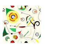 Fondo beige surrealista astratto, patternm senza cuciture 18-30 Royalty Illustrazione gratis