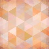 Fondo beige texturizado de los triángulos del vector del vintage Imagenes de archivo