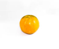 Fondo bianco arancio Immagini Stock