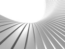 Fondo bianco astratto del modello della banda delle curve regolari Fotografia Stock