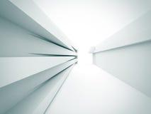 Fondo bianco astratto della costruzione di architettura Fotografia Stock