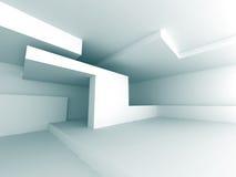 Fondo bianco astratto della costruzione di architettura Immagini Stock