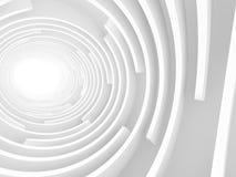 Fondo bianco astratto della luce del tunnel Immagine Stock